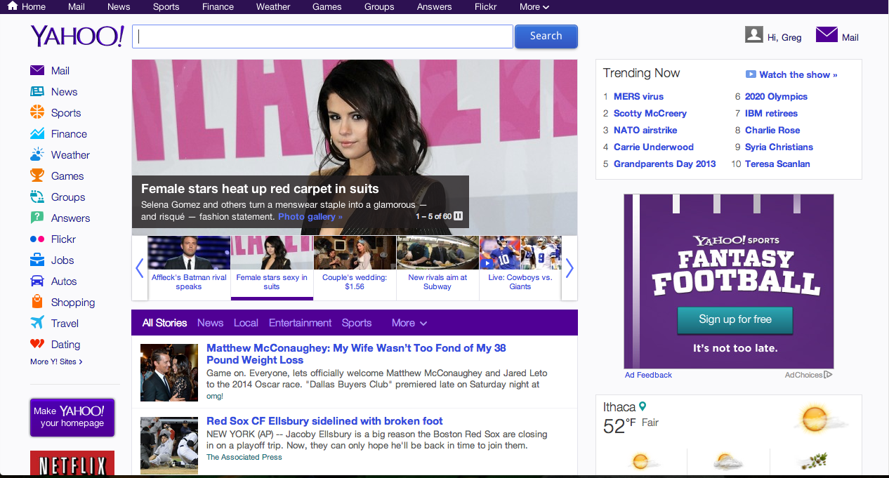 New yahoo homepage 2013 images amp pictures becuo